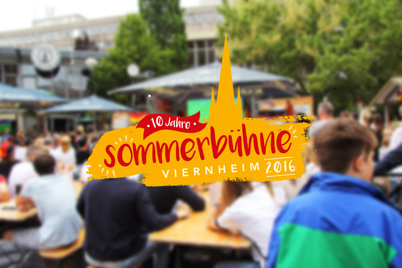 Sommerbühne Viernheim 2016 powered by Erdt